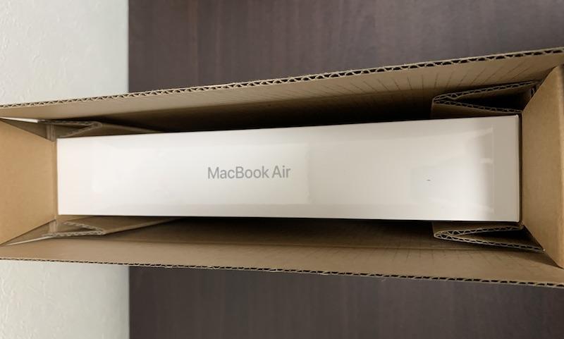 M1 MacBook Air箱梱包