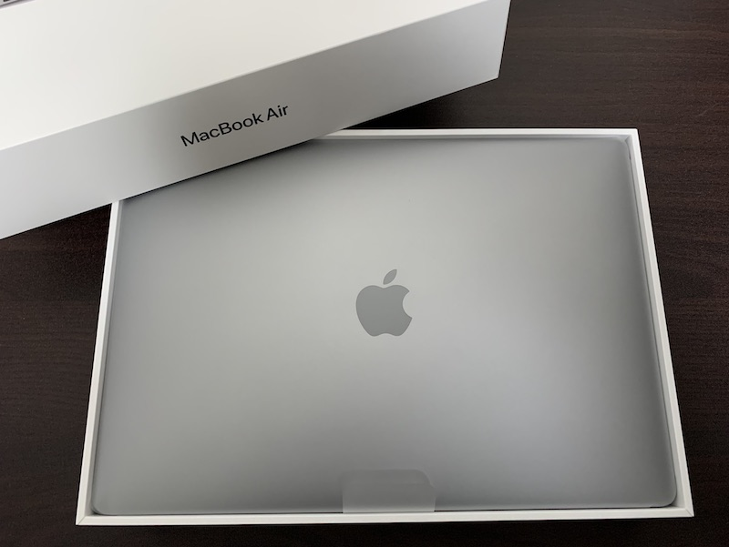 M1 MacBook Air開封直後