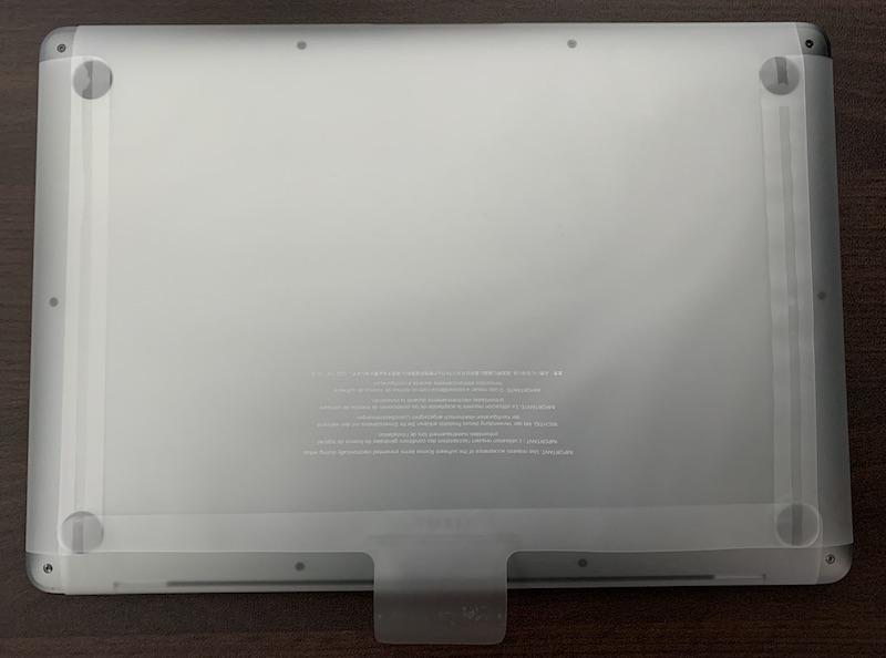 M1 MacBook Air本体保護フィルム底面