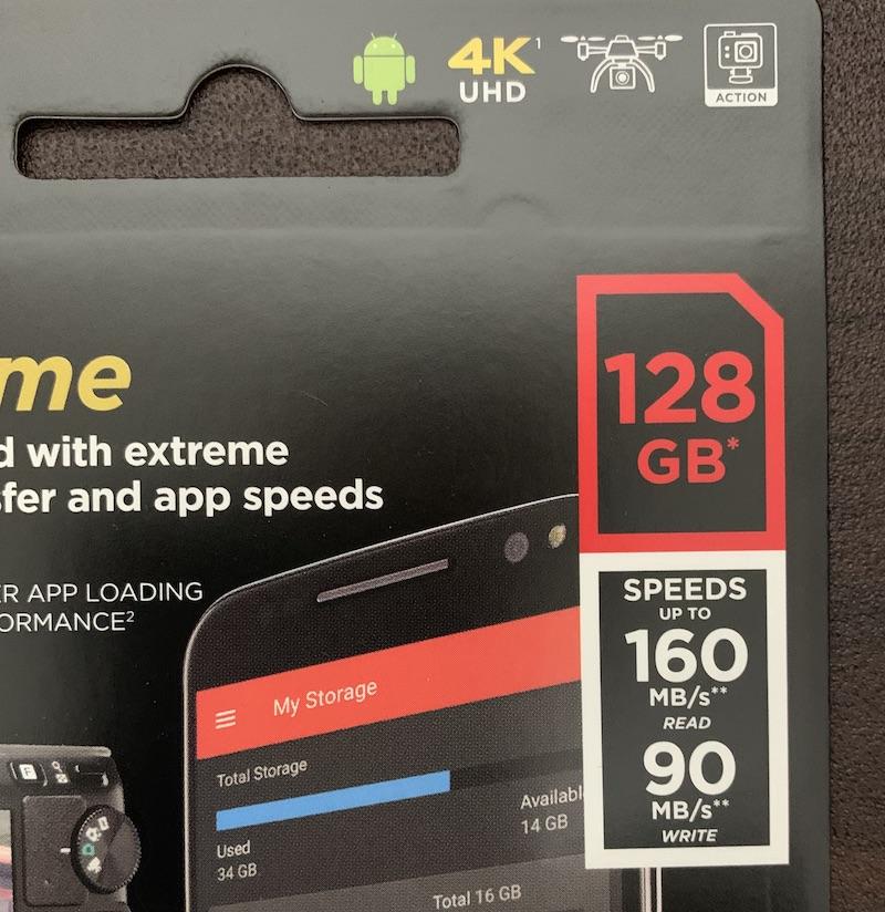 SanDisk microSDカード128GB速度