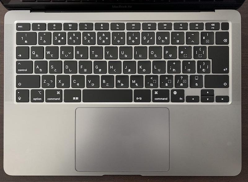 MacBookAir用 ALLFUNキーボードカバー装着前