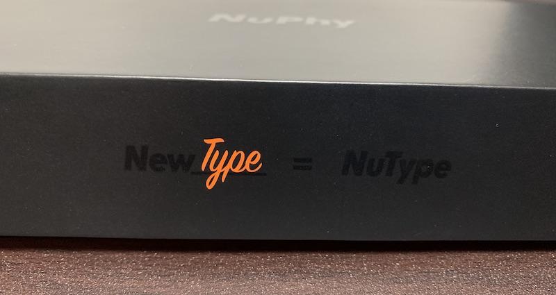 NuPhy NuType F1パッケージ手前側面