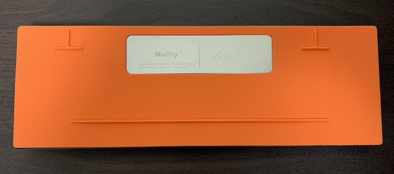 NuPhy NuType F1裏側