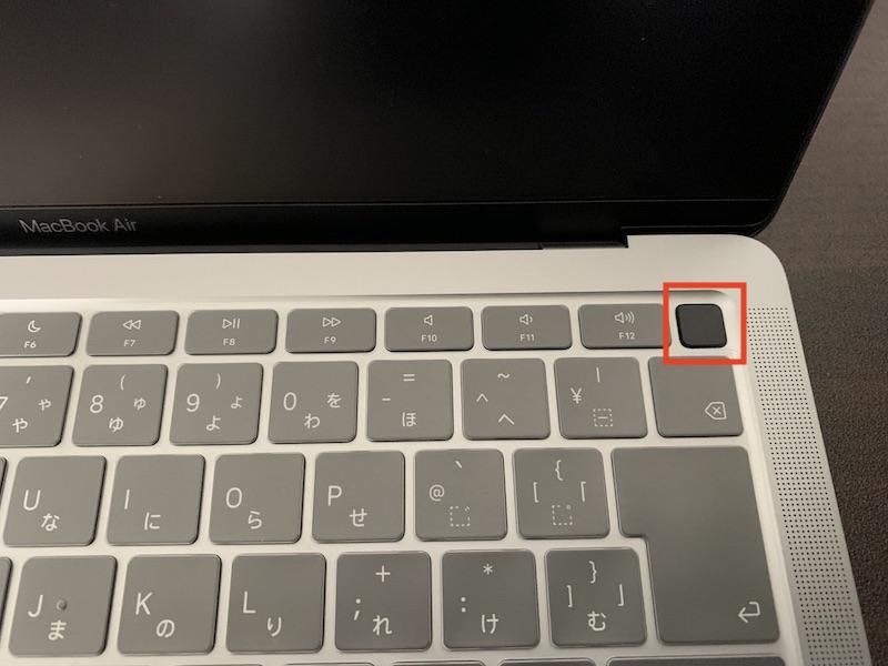 MacBook 電源ボタン