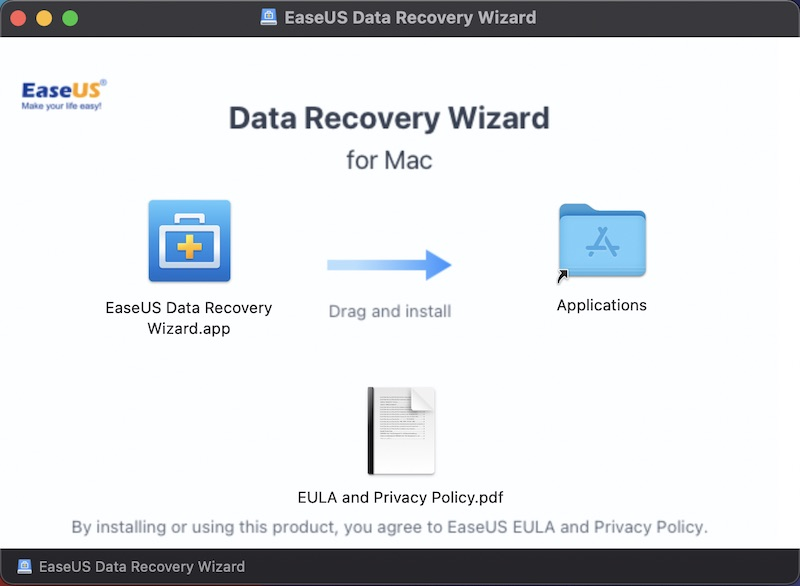 EaseUS Data Recovery Wizard for Mac インストール