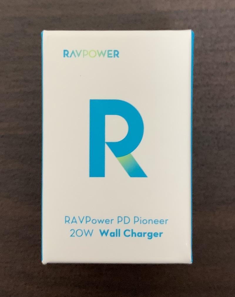 RAV Power 20W 急速充電対応・小型・軽量充電アダプタ RP-PC150のパッケージ表側