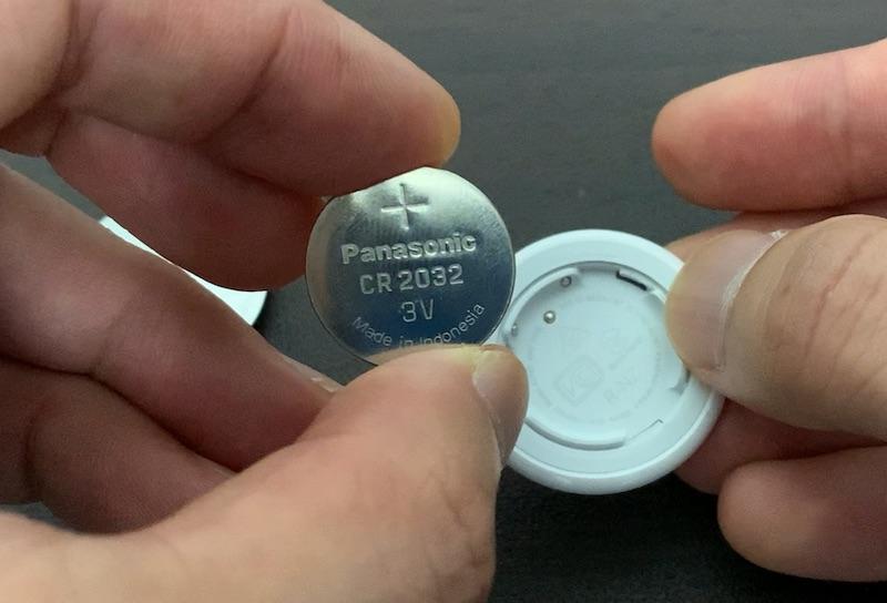 Apple AirTag用ボタン電池CR2032取り出し完了