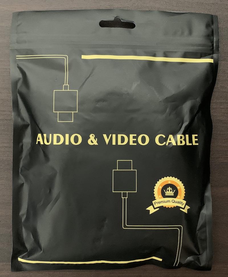 LVFANの8K60Hz 4K144Hz対応HDMI2.1ケーブルのパッケージ表側