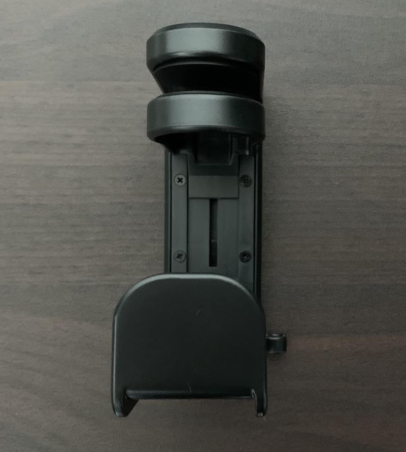 サンワサプライ回転式ヘッドホンフックPDA-STN18BKの前面