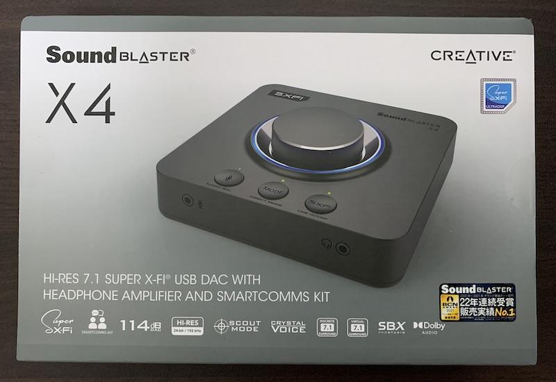 Sound Blaster X4のパッケージ表側