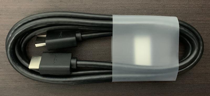 DELL S2721Qに付属のHDMIケーブル
