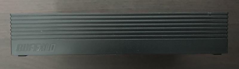 BUFFALO外付けHDD(HD-EDS6U3-BC)のHDD側面上側