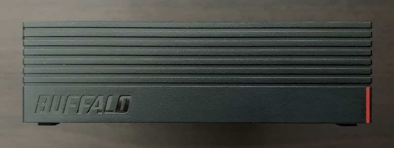 BUFFALO外付けHDD(HD-EDS6U3-BC)のHDD前面