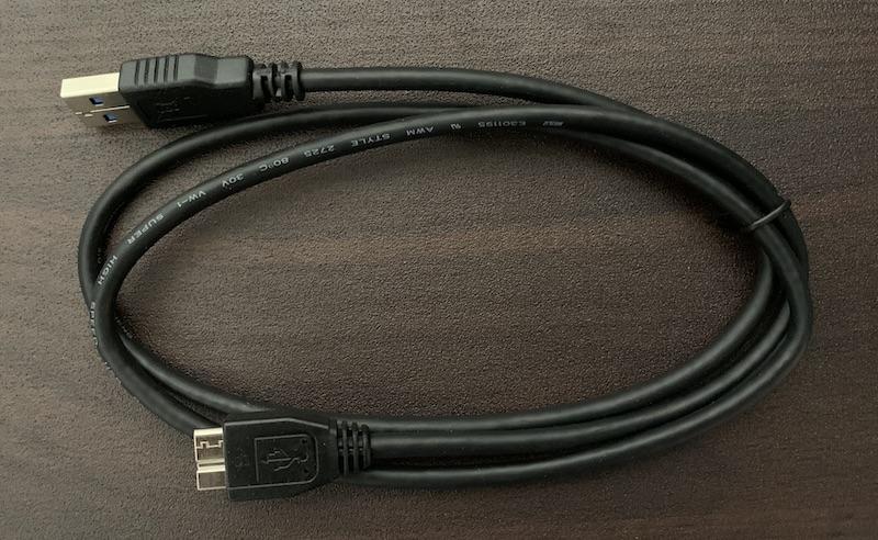 BUFFALO外付けHDD(HD-EDS6U3-BC)のUSB3.2(Gen1)ケーブル