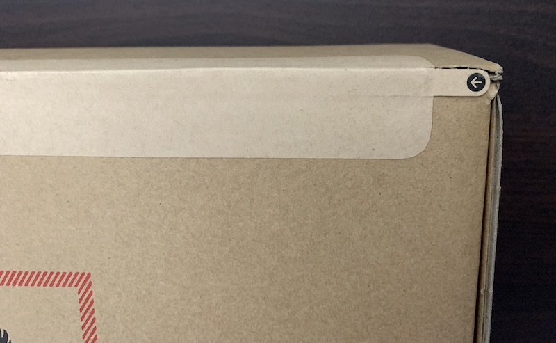 iPad mini6の配送用段ボール箱の開け口