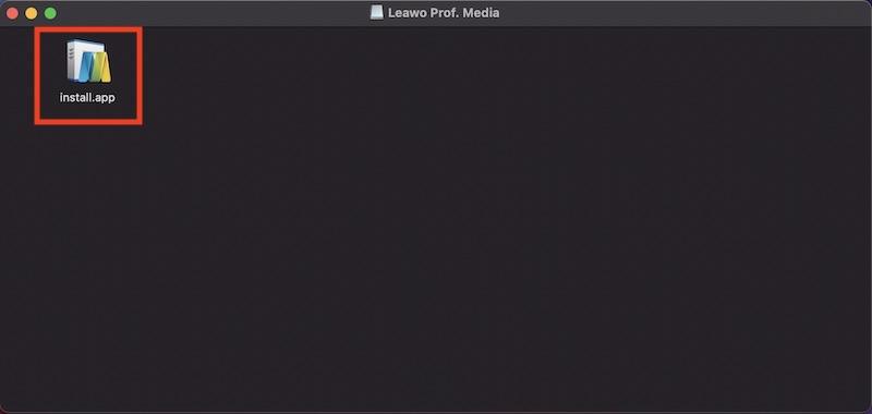 LeawoProf.Mediaのインストール用install.app