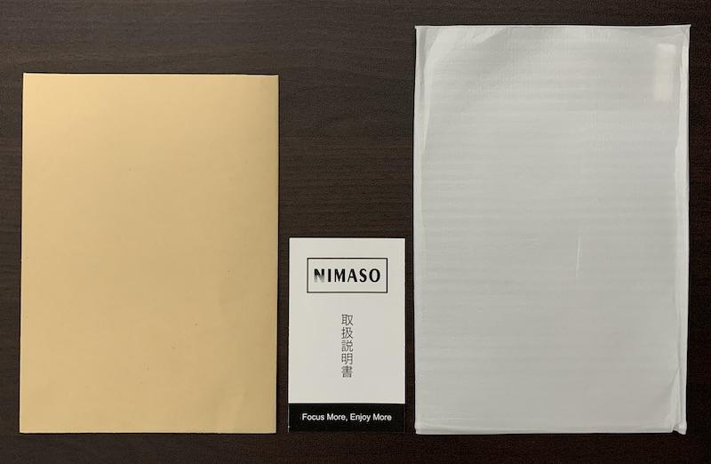 NIMASO のiPad mini6 用ガラスフィルムの内容物