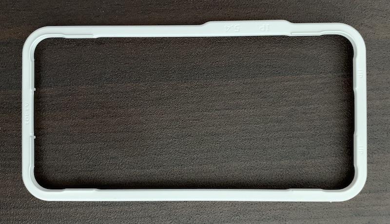 NIMASO iPhone13 mini用ガラスフィルムの貼り付けガイド枠