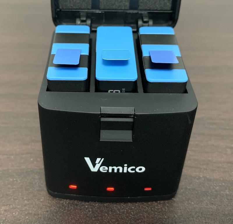GoPro9、GoPro10で使えるVemicoのバッテリーと充電器(純正バッテリーを充電)