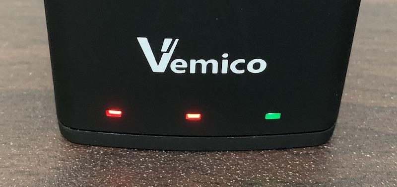 GoPro9、GoPro10で使えるVemicoのバッテリーと充電器(1本だけ先に充電完了)